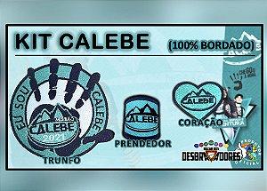 Kit CALEBE (Trunfo, prendedor e coração) - Totalmente bordado