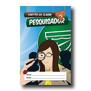 CARTÃO DE CLASSE: PESQUISADOR (Registro)