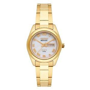 Relogio Feminino Dourado Automatico Orient 3 Estrelas