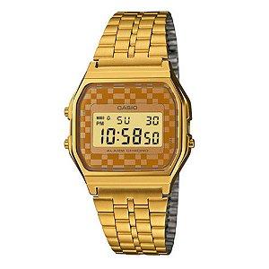 Relogio Feminino Vintage Casio Dourado Digital Quadrado
