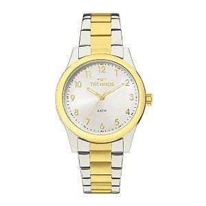 Relógio Feminino Prata com Dourado Technos Analógico 2035MKK