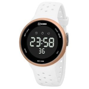 Relógio Feminino Digital Branco e Rose Esportivo X-Games