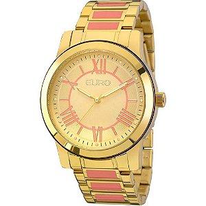 Relógio Feminino Dourado com Rosa Euro EU2035YEI/5T