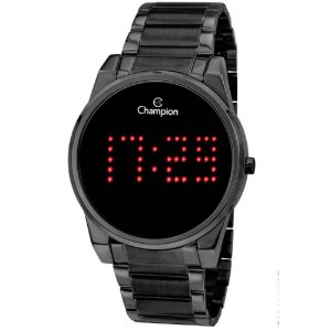 Relogio Feminino Digital Preto Champion Original Led