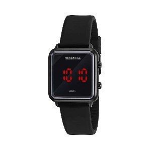 Relógio Feminino Preto Mondaine Digital Led Quadrado Pequeno