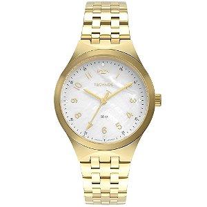 Relógio Feminino Dourado Technos Fundo Madrepérola com Pedra