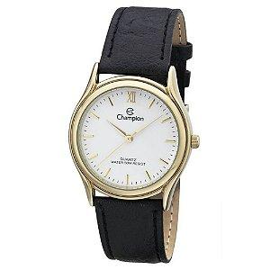 Relógio Feminino Dourado Champion Pulseira Couro com Detalhe