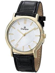 Relógio Feminino Dourado Champion Pulseira de Couro Original