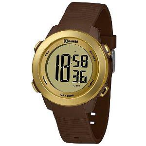 Relógio Feminino Dourado e Marrom Digital X-Games Original