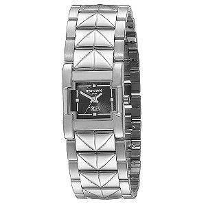 Relógio Feminino Quadrado Prateado Bracelete Ivete Sangalo