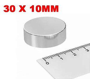Imã De Neodímio Disco 30mm x 10mm *10 Peças*