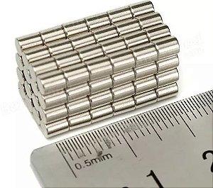 Imã De Neodímio Cilindro 3mm X 4mm