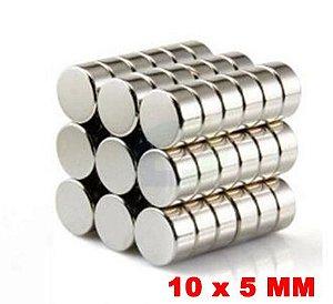 Imã De Neodímio Disco 10mm X 5mm *60 Peças*