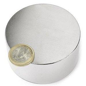 Imã De Neodímio Bloco N52 60mm x 20mm Super Forte Compacto Trava Bem Disco Imã