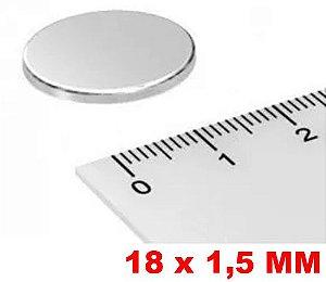 Imã De Neodímio Disco 18mm X 1,5mm *10 Peças*