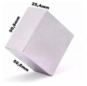 Imã De Neodímio Bloco 50x50x25mm Super Forte Compacto Trava Bem Disco Imã