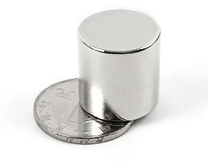 Imã De Neodímio Cilindro 20mm x 20mm