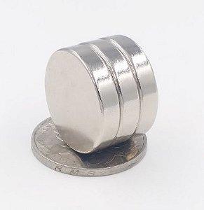 Imã De Neodímio Disco 22mm x 5mm