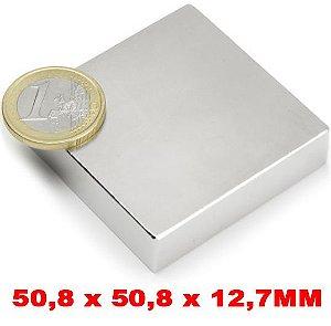 Imã De Neodímio Bloco 50,8mm x 50,8mm x 12,7mm