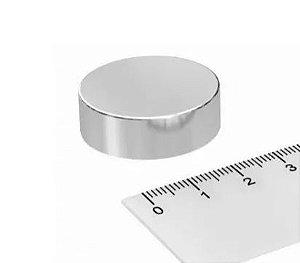 Imã De Neodímio Disco 30mm x 10mm - N42