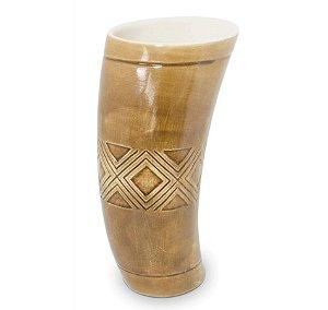 Guampa Cerâmica para Tereré 250ml Marrom Escuro