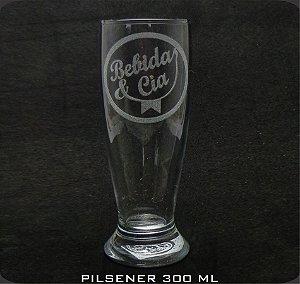 Copo Vidro Pilsener 300ml Personalizado (cx 24 und)
