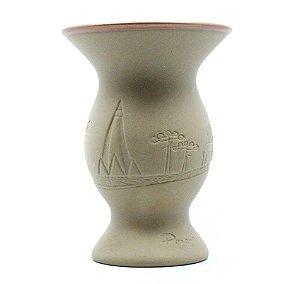 Cuia Chimarrão Tereré Cerâmica 350 ml Ocre Motivo Paraná