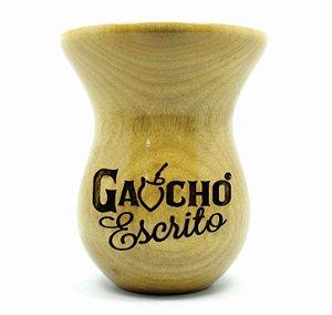 Cuia Personalizada tipo Bago de Touro em Madeira Grapiá