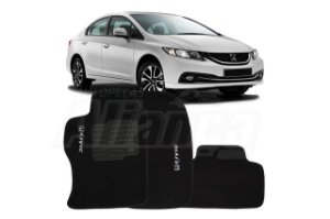 Tapete carpete personalizado New Civic 2014 2015 2016 (3 pcs)