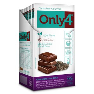Chocolate com Chia 70% Only 4 Display 6x80g