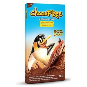 Chocolate Puro 50% Cacau ChocoFree Display 6x80g