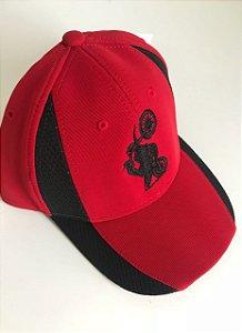 Boné aba Curva Bordado XT660 - vermelho com preto
