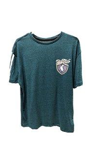 Camiseta Mescla osascorte brasao - Azul