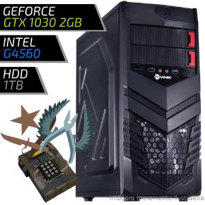 COMPUTADOR PC GAMER FIRST - INTEL G4560 / 8GB DDR4 / GT 1030 2GB / HD 1TB / VULCAN