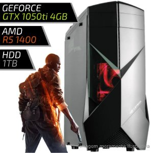COMPUTADOR PC GAMER ADVANCED AMD - RYZEN 5 / 8GB DDR4 / GTX 1050TI 4GB / HD 1TB / 300BK