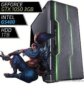 COMPUTADOR PC GAMER FIRST - INTEL G5400 / 8GB DDR4 / GTX 1050 3GB / HD 1000GB / TRON
