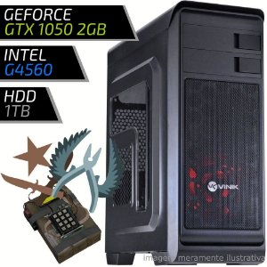 COMPUTADOR PC GAMER FIRST - INTEL G4560 / 8GB DDR4 / GTX 1050 2GB / HD 1000GB / HUNTER