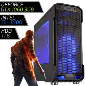 COMPUTADOR PC GAMER ADVANCED - INTEL CORE I3 8100 / 8GB DDR4 / GTX 1060 3GB / HD 1000GB / 600BK