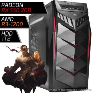 COMPUTADOR PC GAMER FIRST AMD - RYZEN 3 / 8GB DDR4 / RX 550 2GB / HD 1TB / 70BK