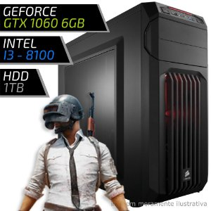 COMPUTADOR PC GAMER ADVANCED - INTEL CORE I3 8100 / 8GB DDR4 / GTX 1060 6GB / HD 1000GB / SPEC-01
