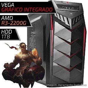 COMPUTADOR PC GAMER FIRST AMD – RYZEN 3 2200G / 8GB DDR4 / VEGA / HD 1TB / 70BK