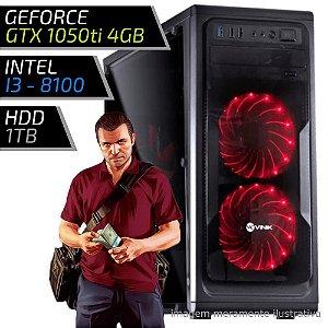 COMPUTADOR PC GAMER FIRST - INTEL I3 8100 3.6GHZ / 8GB DDR4 / GTX 1050TI 4GB / HD 1000GB / GUARDIAN