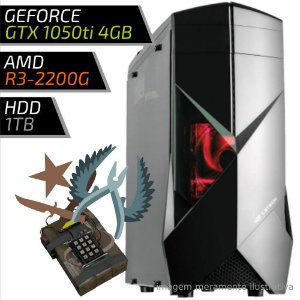 COMPUTADOR PC GAMER FIRST AMD – RYZEN 3 2200G / 8GB DDR4 / GTX 1050TI 4GB / HD 1TB / 300BK