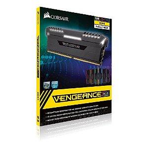 MEMÓRIA CORSAIR VENGEANCE RGB 16GB (2x8GB 2666MHZ DDR4) - CMR16GX4M2A2666C16