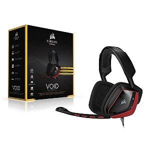 HEADSET GAMER CORSAIR VOID STEREO 7.1 RED CA-9011144-NA
