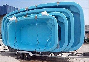 Piscina de Fibra Paradise 7.00x350 Instalada