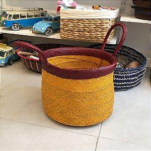 TUPINAMBÁ CESTO - Amarelo/Mocha