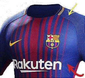 5d97256186 Camiseta Nike Barcelona I Vapor 2017 2018 Jogador Masculina - R7Store