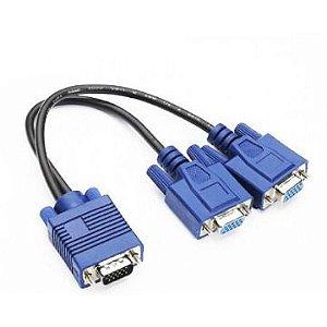 Cabo Y Feasso P/ Monitor 1 VGA (macho) X 2 VGA (fêmea) Adaptador