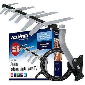 Antena Externa Digital Para Tv Dtv-1500 2 Em 1